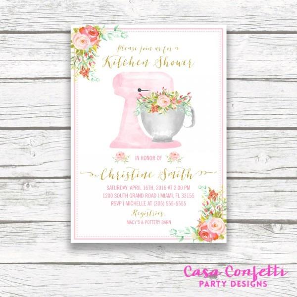 Kitchen Bridal Shower Invitation Kitchen Shower Invitation