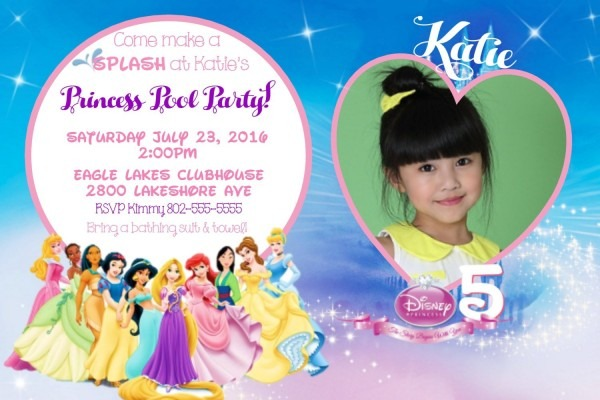 Disney Princess Party Invitation