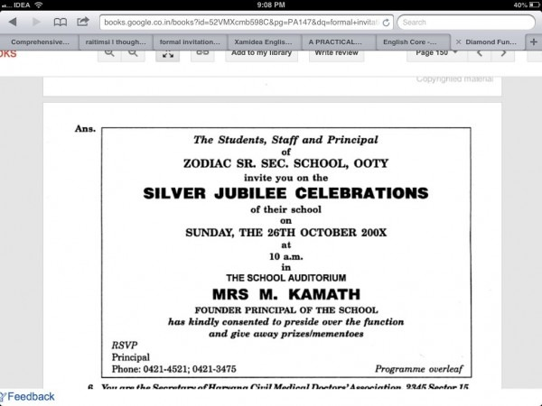 Invitation Letter To Chief Guest For School Function