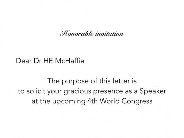 Honorable Invitation