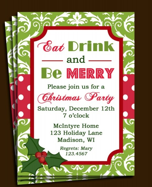 Invitation For Christmas Gathering – Fun For Christmas & Halloween