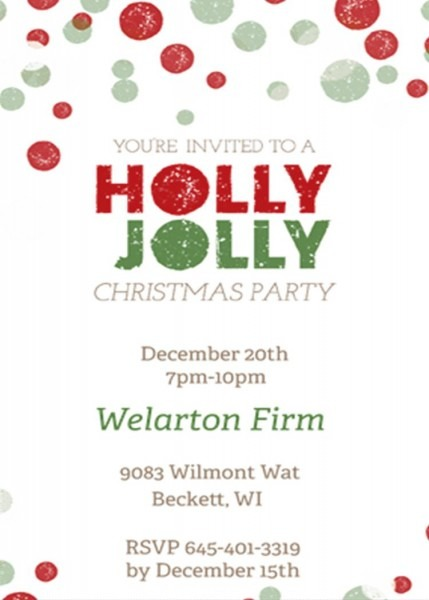 Invitation To A Company Christmas Party – Fun For Christmas