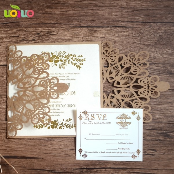 Invitation Card Freshers Party White Pearl Paper Laser Roll