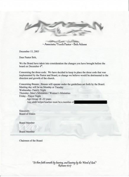 Church Revival Invitation Letter