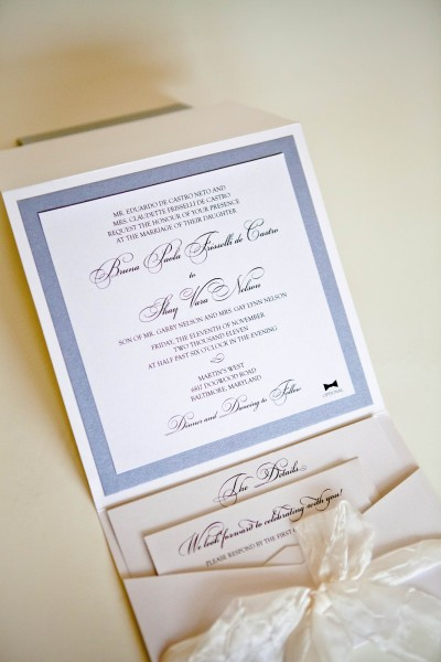 Pocket Style Invitations Baltimore    Wedding Invitations Baltimore