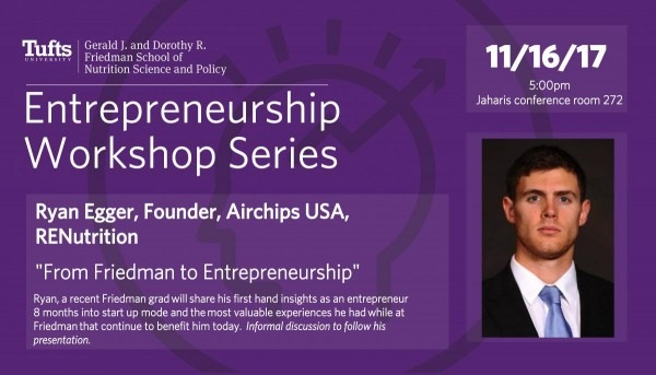 Entrepreneurship Workshop Series  Ryan Egger