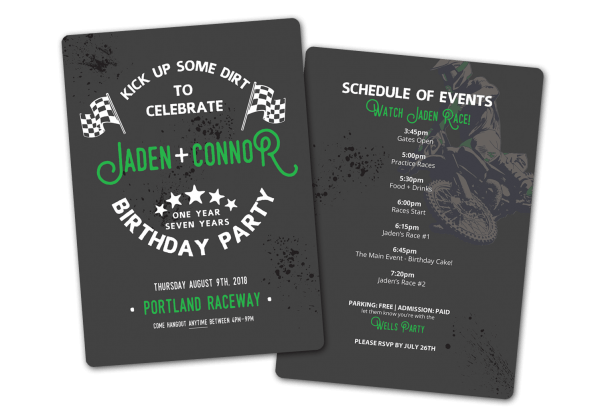 Jaden + Connor's Motocross Birthday Party