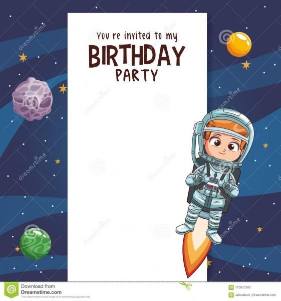 Kids Birthday Party Card Invitation Stock Vector