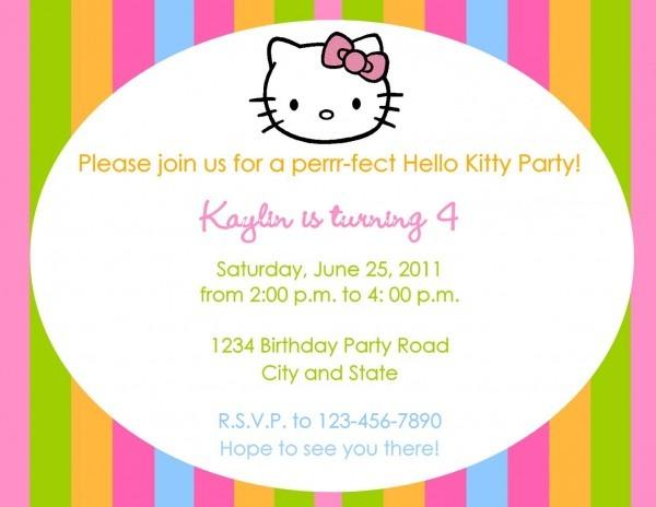 Kitty Invitation Wording Muco Tadkanews Co Astonishing Printable