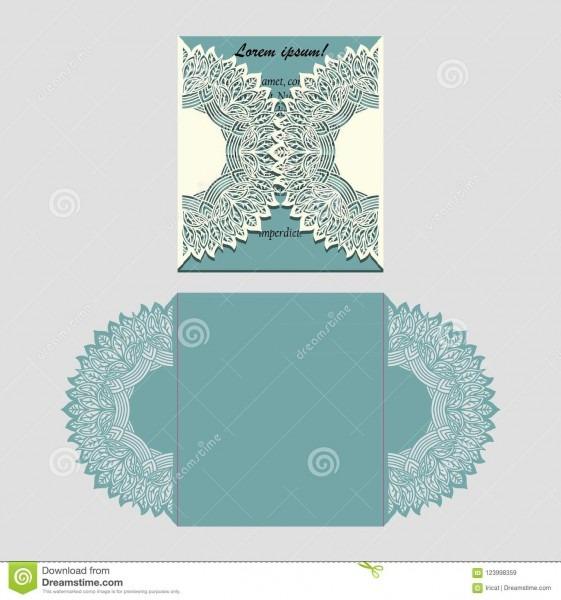 Folding Invitation Card Template