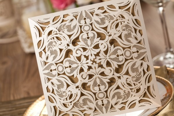 Laser Cut Wedding Invitations Bulk