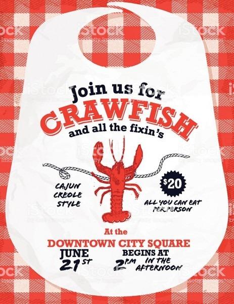 Lovely Crawfish Boil Invitation Templates Free