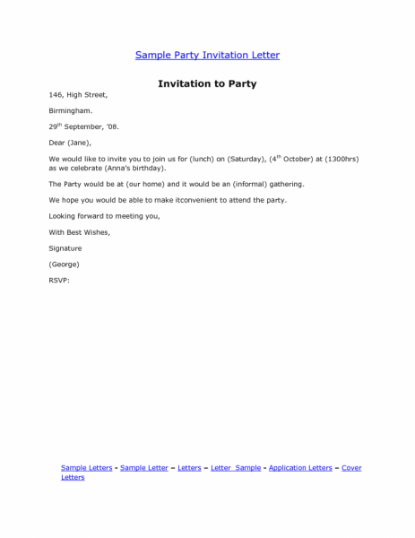Birthday Invitation  Email Party Invitations