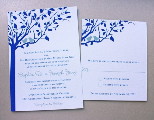 Invitations   Navy Blue Yellow White Peony Wedding Invitations