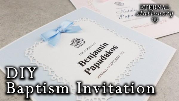 Easy Diy Die Cut Lace Frame Baptism Christening Invitation