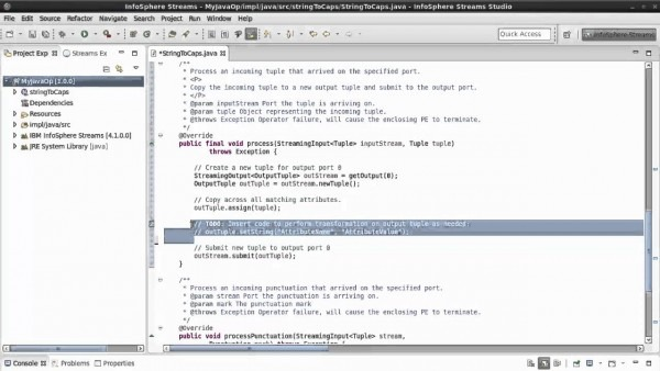 Creating Your First Ibm Streams Java Operator In 1 Minute