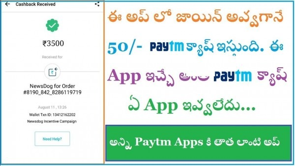 How To Earn Free Paytm Cash In Newsdog App In Telugu