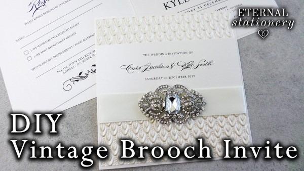 How To Make Elegant Brooch Wedding Invitations