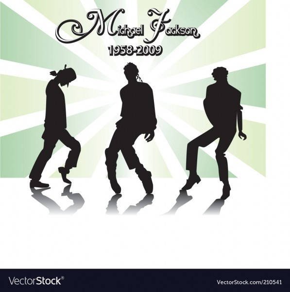 Michael Jackson Rip Royalty Free Vector Image