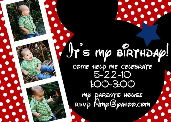 Baby Mickey Mouse Free Invitation Template Archives