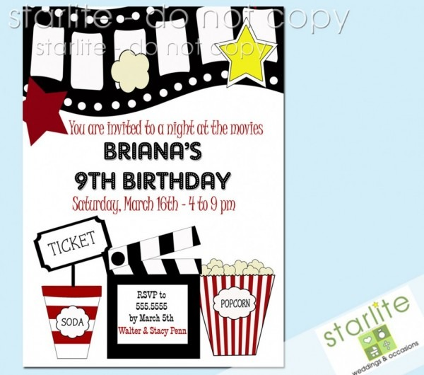 Movie Premiere Invitation Template