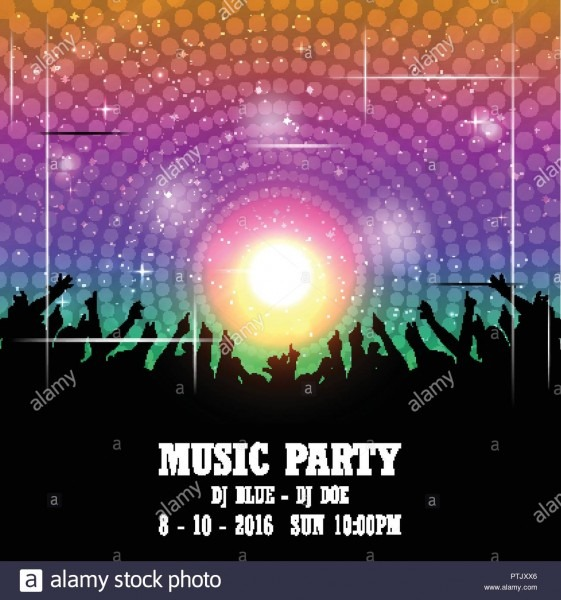 Music Party Invitation Card Design Vector Stock Vector Art