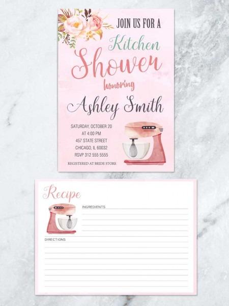 Kitchen Bridal Shower Invitation, Kitchen Mixer Bridal Shower