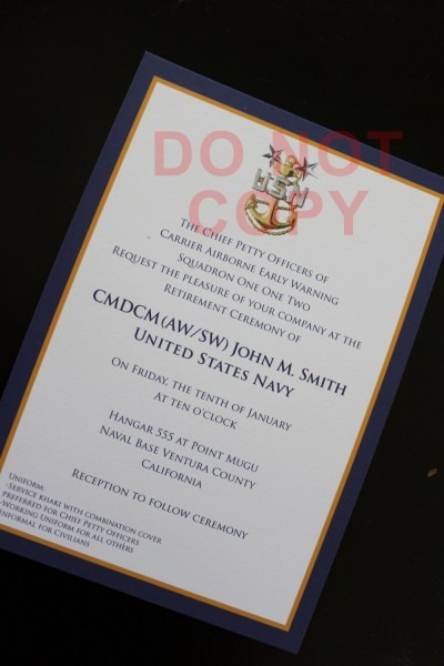 12 Best Photos Of Military Promotion Ceremony Invitation Template