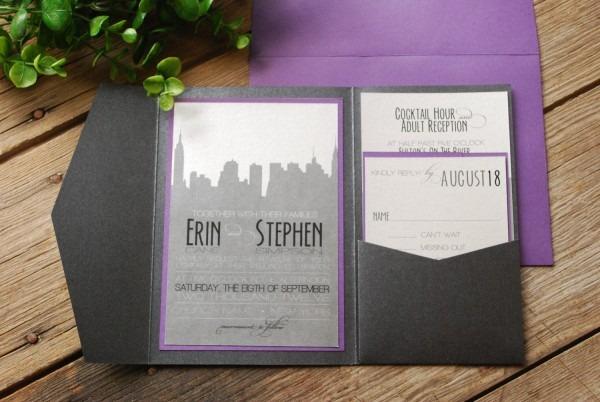 Nyc Themed Wedding Invitations Custom Wedding Invitations Nyc