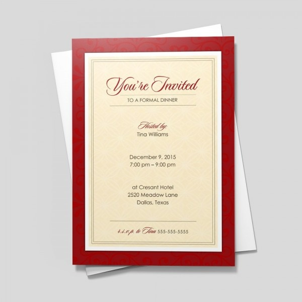 Official Red Invitations & Announcements By 123print
