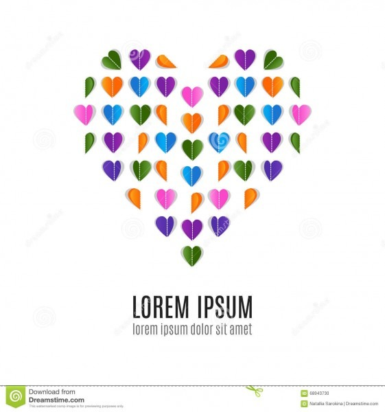 Origami Heart Love Poster Stock Vector  Illustration Of Greeting