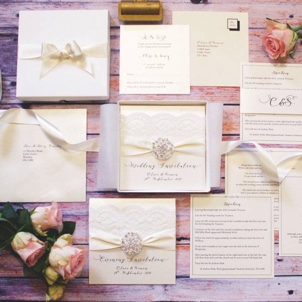 Opulence Crystal Bespoke Wedding Invitation By Made With Love