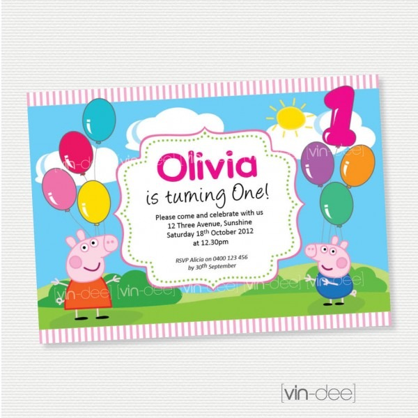 Peppa Pig Birthday Invite Template From Trumptwitter Combined With