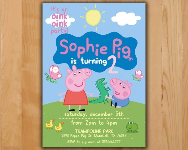 Peppa Pig Invitation From Trumptwitter For A Enchanting Party