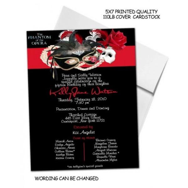 Phantom Of The Opera Invitation Cards  3