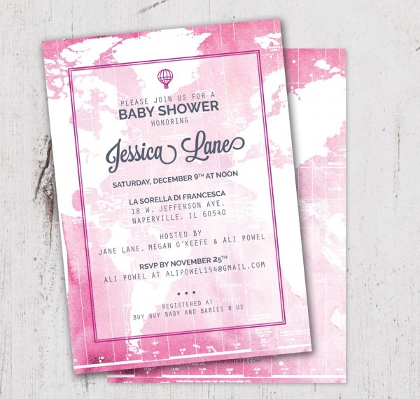 Photo Baby Shower Invitation Costco Walgreens Girl Sam's Club