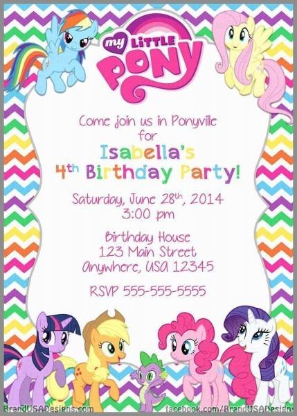 Pony Party Invitation Wording New Free Printable My Little Pony