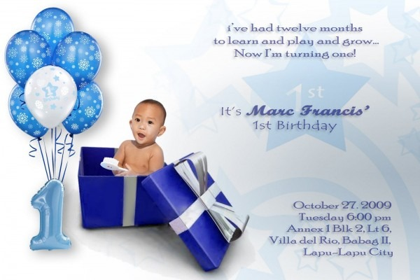 Popular 1st Birthday Invitation Card For Baby Boy Online 75 With