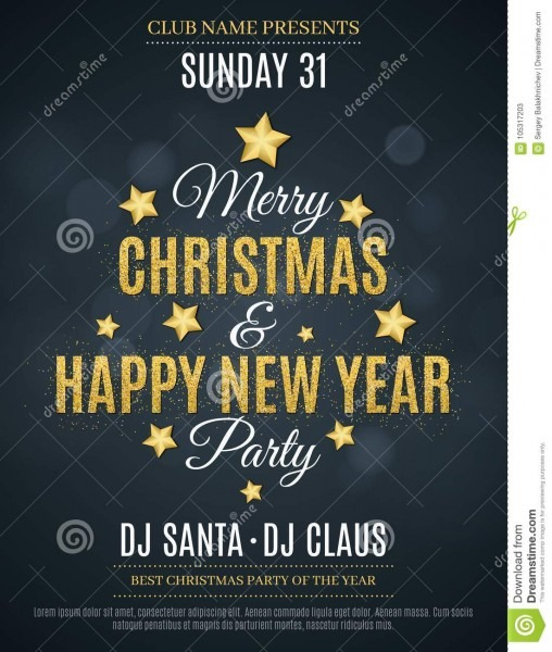 Poster For The Christmas And New Year Party  Invitation Card  The