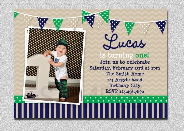 Birthday Invitation Boys