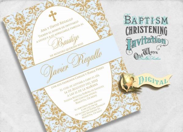Printable Baptism Invitations In Spanish Unique Elegant Spanish