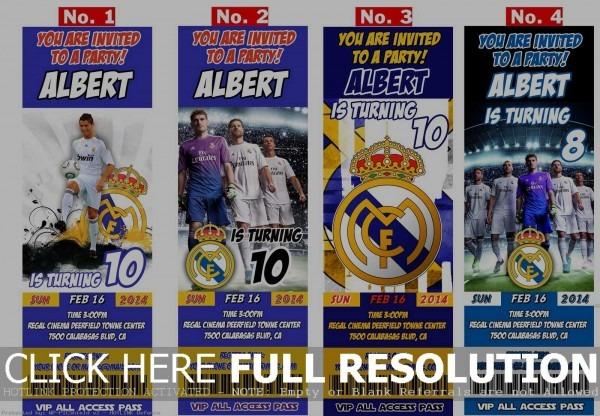 Real Madrid Birthday Ticket Invitations And 50 Similar Items