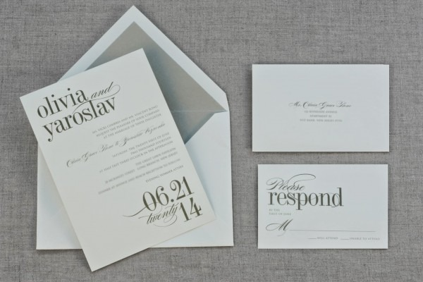 Vera Wang Wedding Invitation Suite With An Emerald Vine Motif