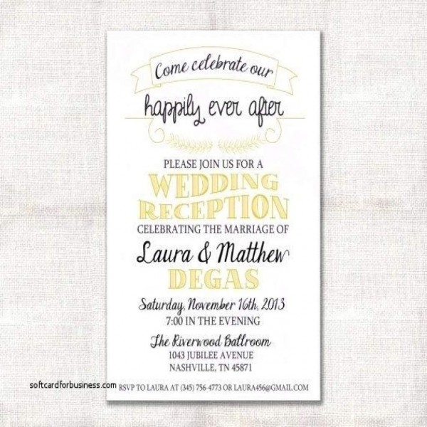 37+ Best Image Of Reception Invitation Wording After Private