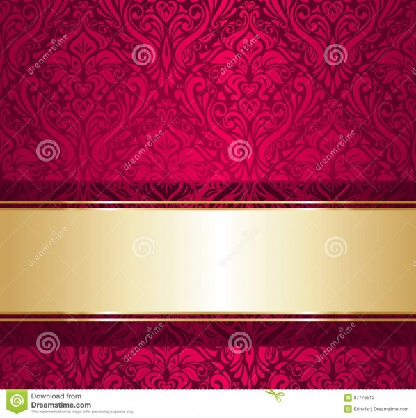 Red And Gold Luxury Vintage Wallpaper Stock Vector