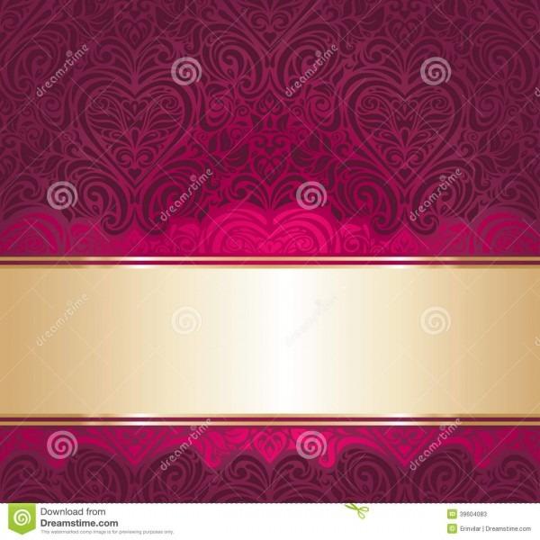 Red And Gold Vintage Invitation Background Illustration 39604083