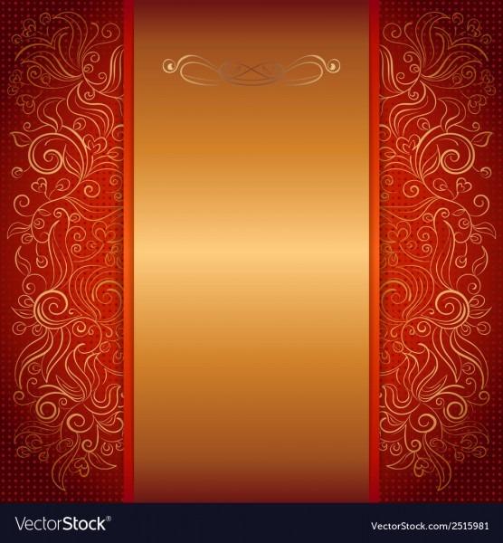 Red Royal Invitation Card Royalty Free Vector Image