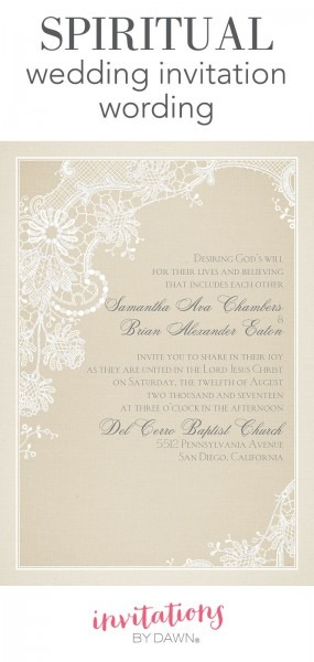Religious Wedding Invitation Wording