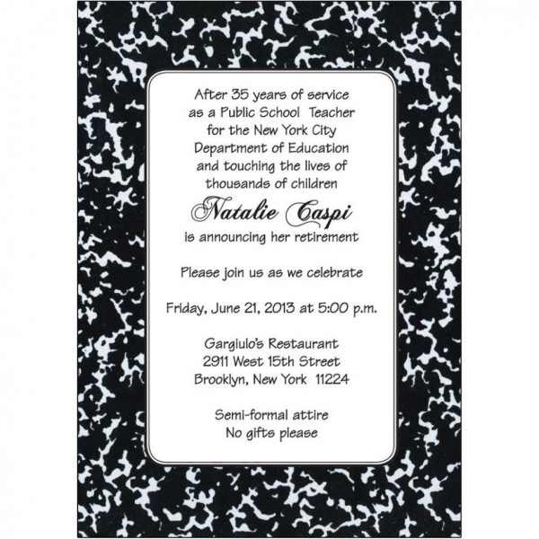 Retirement Party Invitation Wording Retirement Party Invitation