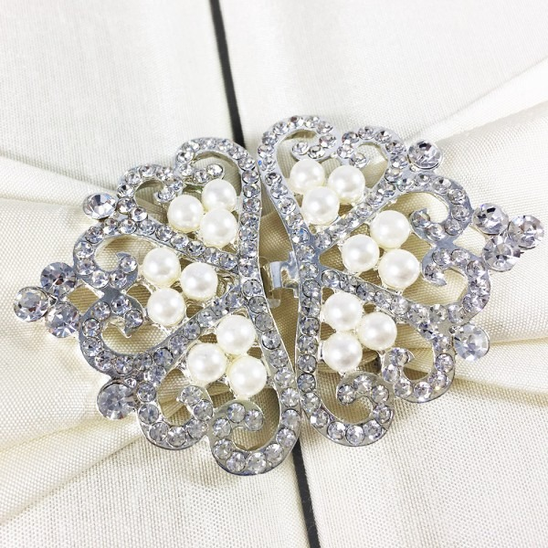 Beautiful Pearl Wedding Embellishment & Lock For Invitation Cards